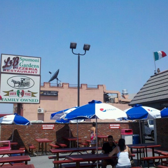 Photo taken at L&B Spumoni Gardens by Jeremy S. on 7/1/2012