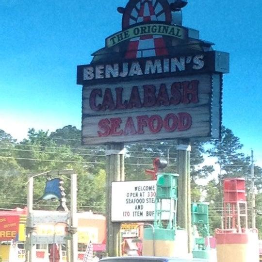 Photo taken at The Original Benjamin's Calabash Seafood by Jen W. on 5/7/2012