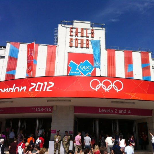 Photo taken at Earls Court Exhibition Centre by Cesar M. on 8/11/2012