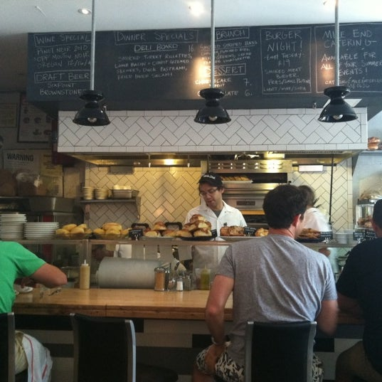 Photo taken at Mile End Delicatessen by Kate on 7/21/2012