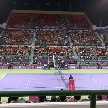 Photo taken at Qatar Tennis Federation by Alex T. on 2/28/2012