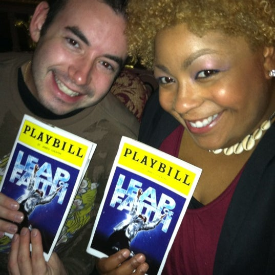 Photo taken at BRING IT ON at the St. James Theatre by Kendra L. on 5/9/2012