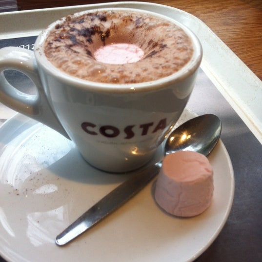 Photo taken at Costa Coffee by Elisha N. on 5/7/2012