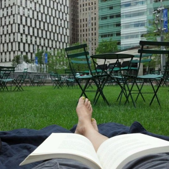 Photo taken at Campus Martius Park by Jennifer S. on 6/3/2012