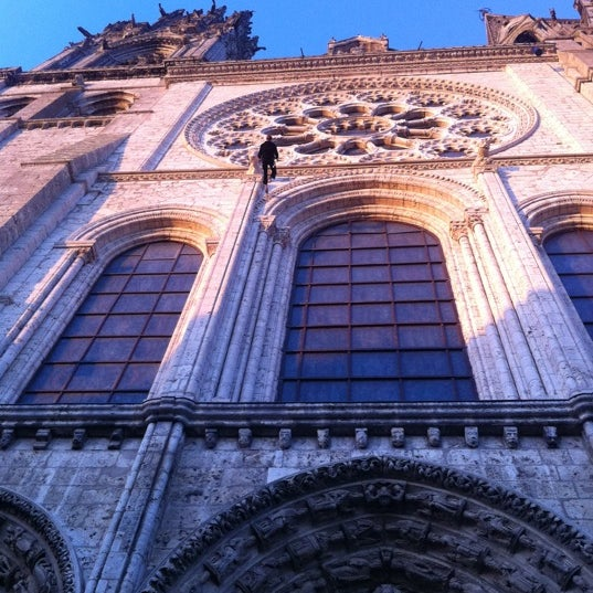 Photo taken at Cathedral Basilica of Our Lady by Chartres T. on 9/13/2012