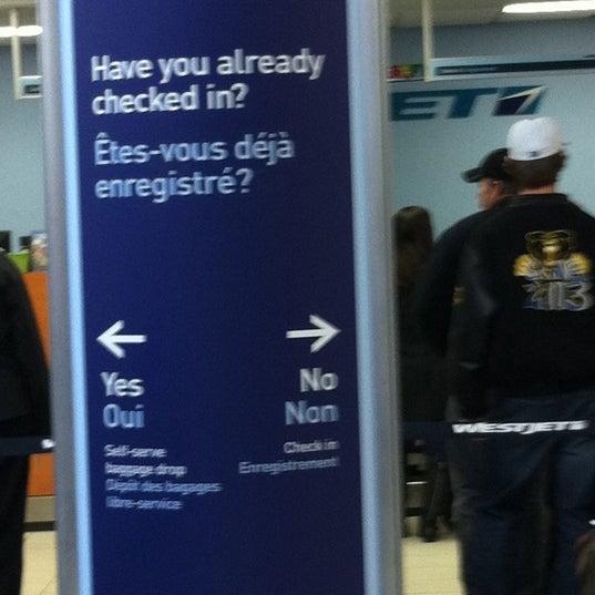 Photo taken at Saskatoon John G. Diefenbaker International Airport (YXE) by Rosanne M. on 2/29/2012