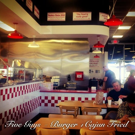 Photo taken at Five Guys by Matt M. on 4/21/2012