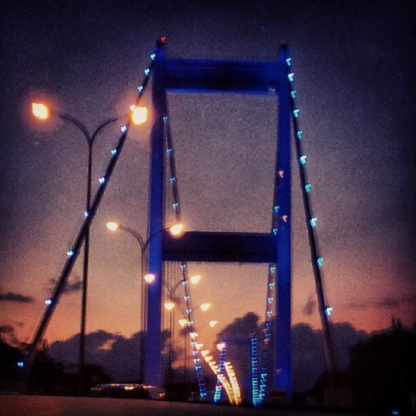 Photo taken at Fatih Sultan Mehmet Bridge by Emel C. on 8/18/2012
