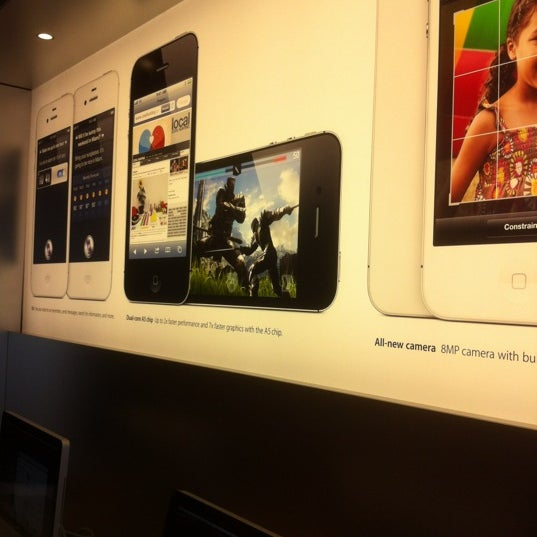 Photo taken at Apple Store, Friendly Center by Craig C. on 3/3/2012