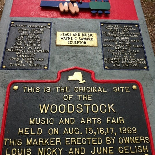 Photo taken at Woodstock Festival Concert Site/Monument by Ryan D. on 5/27/2012
