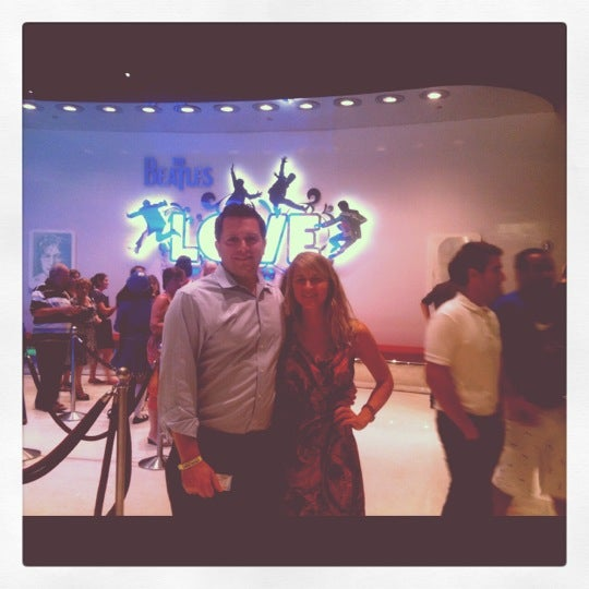 Photo taken at The Beatles LOVE (Cirque Du Soleil) by Abby W. on 8/11/2012