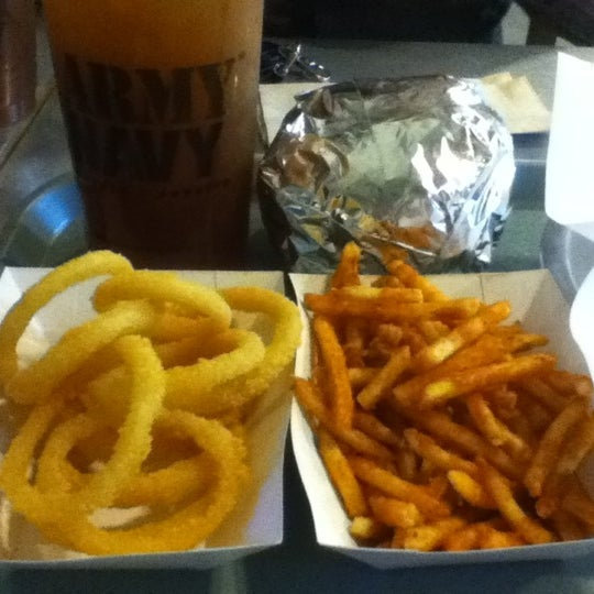 Photo taken at Army Navy Burger + Burrito by Emerson N. on 5/24/2012
