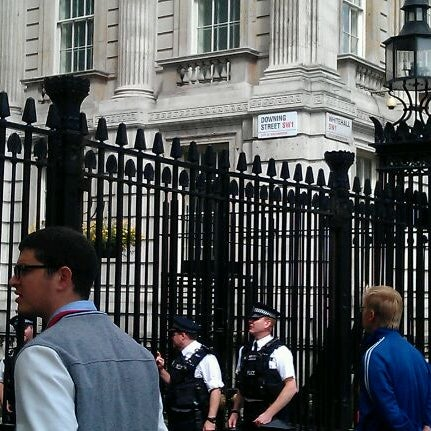 Photo taken at 10 Downing Street by Bruce R. on 7/17/2012