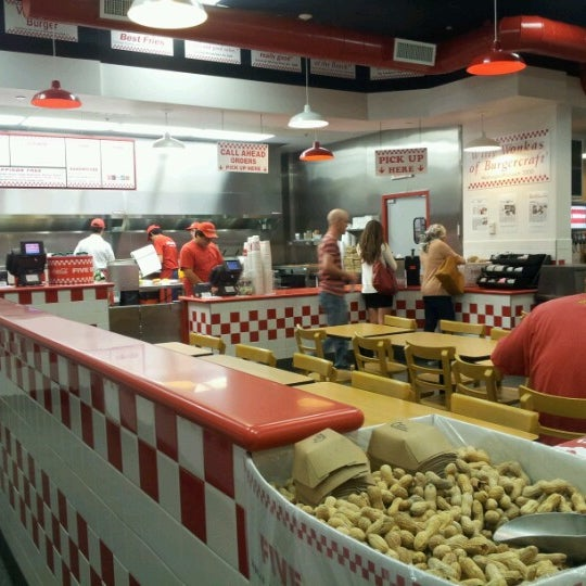 Photo taken at Five Guys by Deema A. on 6/29/2012