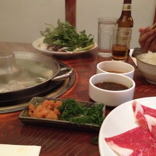 Photo taken at Shabu-Tatsu by Amanda S. on 2/25/2012