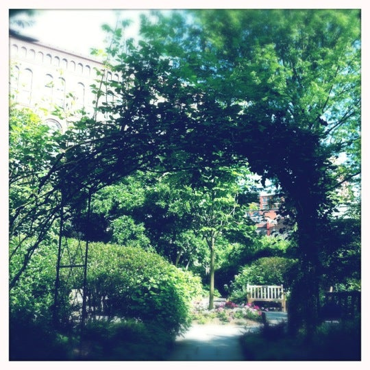 Photo taken at The Garden at St. Luke in the Fields by Gene S. on 5/18/2012