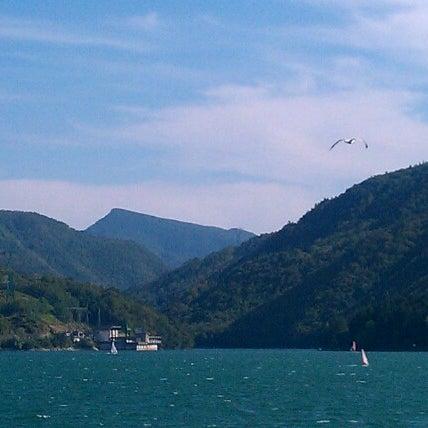 Photo taken at Lago di Suviana by Massimo S. on 8/16/2012