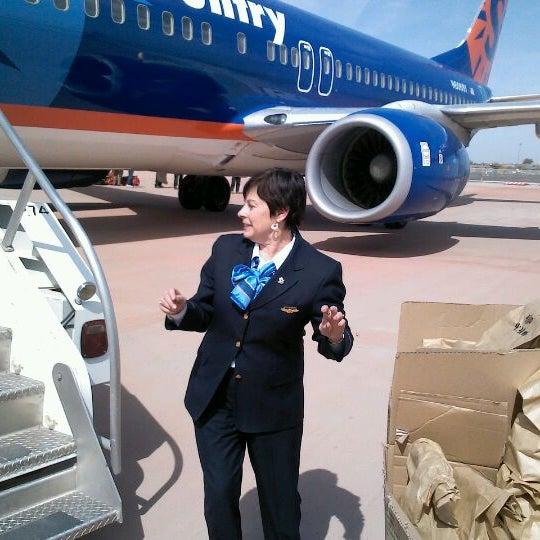 Photo taken at Phoenix-Mesa Gateway Airport (AZA) by Jeanie J. on 4/10/2012