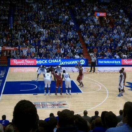 Photo taken at Allen Fieldhouse by Wesley F. on 2/2/2012