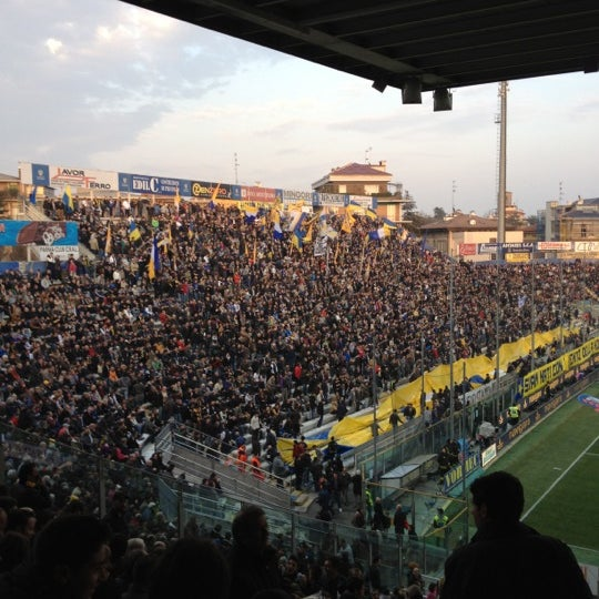 Photo taken at Stadio Ennio Tardini by Alberto E. on 3/17/2012