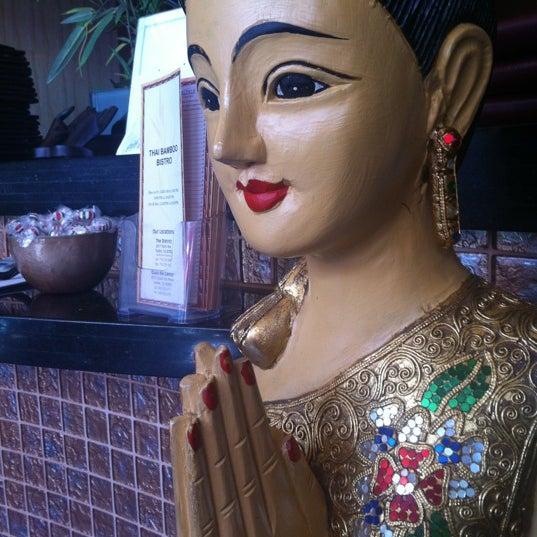 Photo taken at Thai Bamboo Bistro by Anne Q. on 5/16/2012