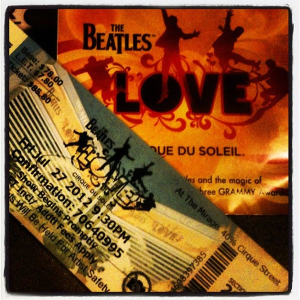 Photo taken at The Beatles LOVE (Cirque Du Soleil) by Christopher D. on 7/28/2012