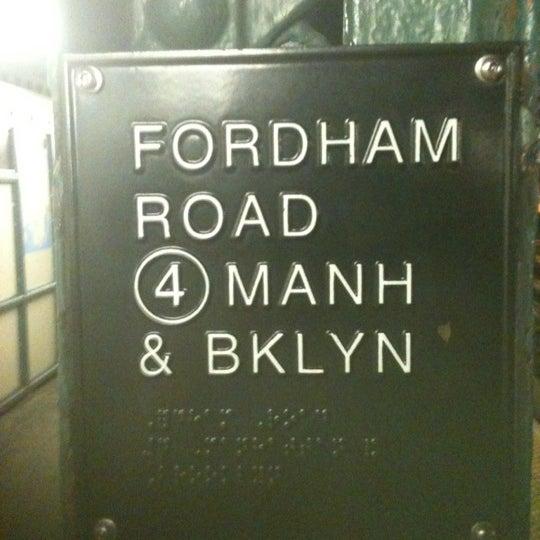 Photo taken at MTA Subway - Fordham Rd (4) by Jose R. on 9/1/2012