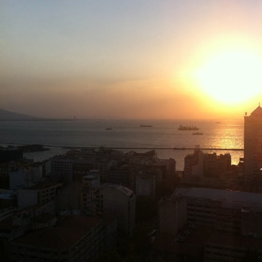 Photo taken at Hilton İzmir by Yücel C. on 8/7/2012