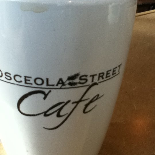 Photo taken at Osceola Street Cafe by Robbie S. on 4/6/2012