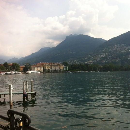 Photo taken at Lago di Lugano by Teresa M. on 6/24/2012