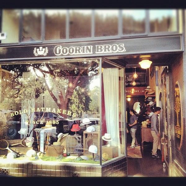 Photo taken at Goorin Bros. Hat Shop by Garrett G. on 6/15/2012