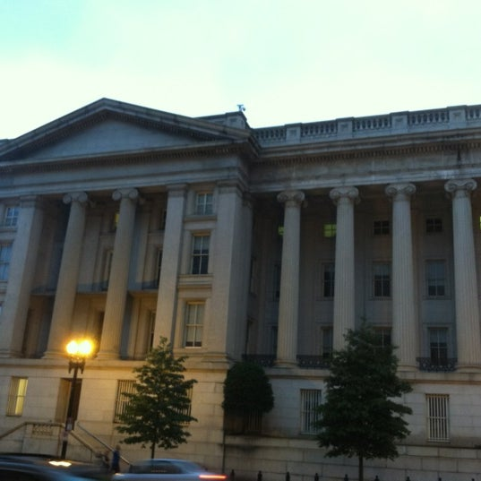 Photo taken at US Department of the Treasury by Emily W. on 9/2/2012