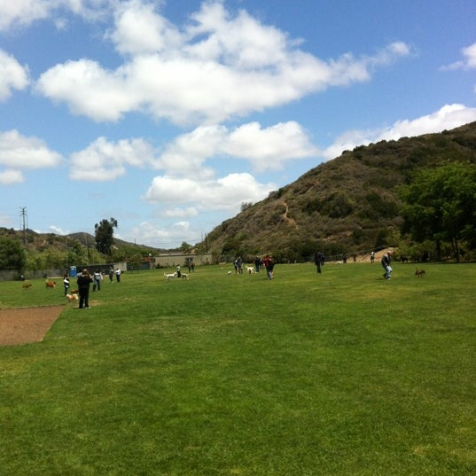 Photo taken at Laguna Canyon Dog Park by Adam S. on 5/26/2012