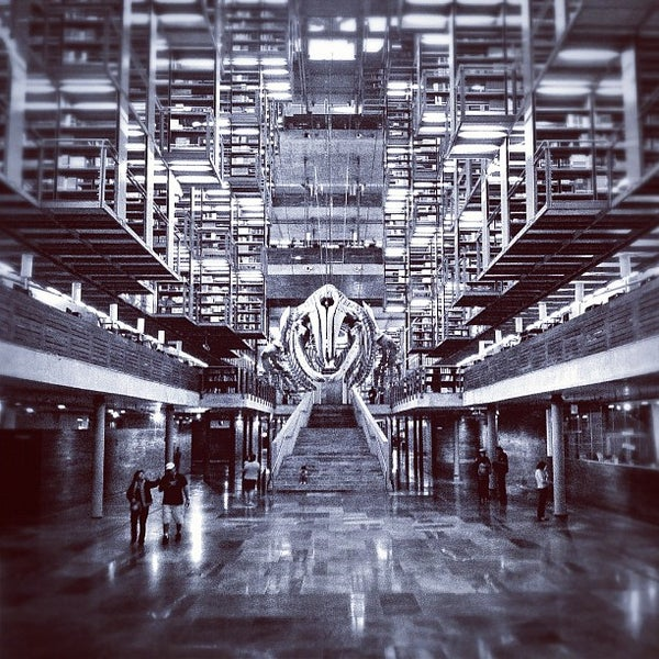 Photo taken at Biblioteca Vasconcelos by Waldemar A. on 4/19/2012