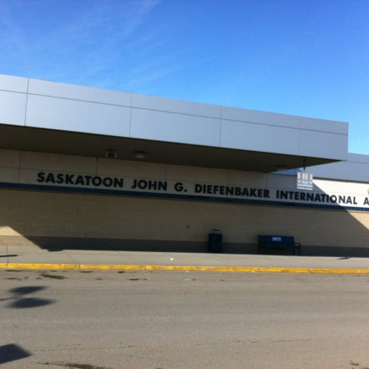 Photo taken at Saskatoon John G. Diefenbaker International Airport (YXE) by Brad L. on 2/18/2012
