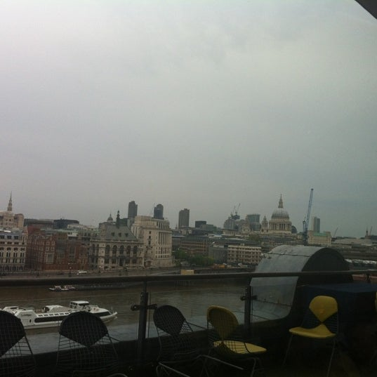 Photo taken at OXO Tower Brasserie by Lauren T. on 5/2/2012
