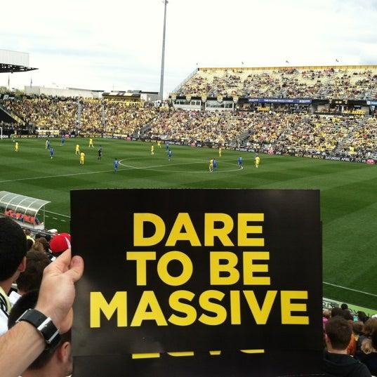 Photo taken at MAPFRE Stadium by Kelly M. on 3/24/2012