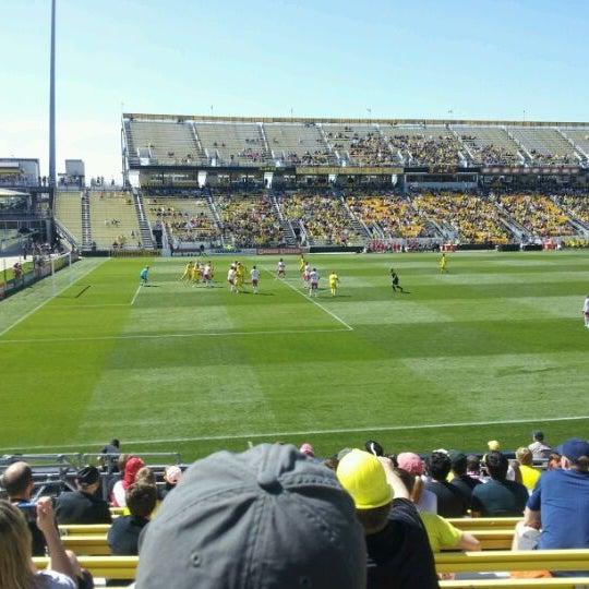 Photo taken at MAPFRE Stadium by Alex G. on 4/7/2012
