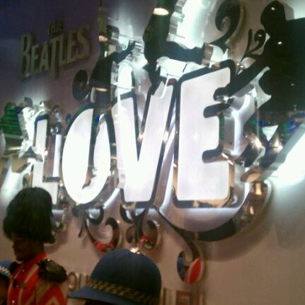 Photo taken at The Beatles LOVE (Cirque Du Soleil) by Phillip K. on 4/15/2012