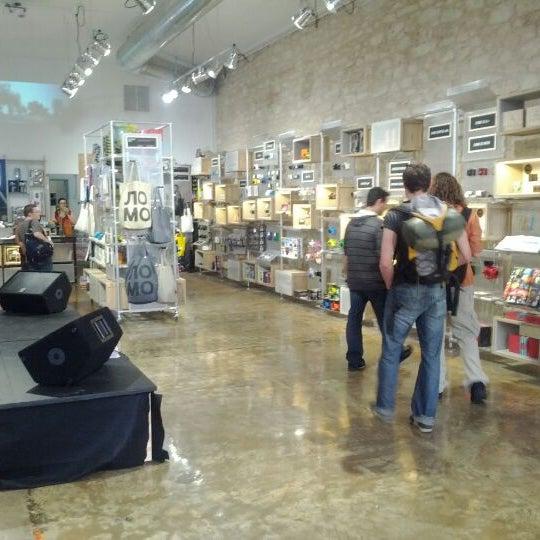 Photo taken at Lomography Gallery Store Austin by Erik B. on 3/11/2012