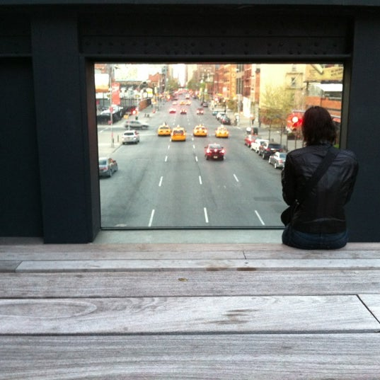 Photo taken at High Line 10th Ave Amphitheatre by Maurice H. on 4/9/2012