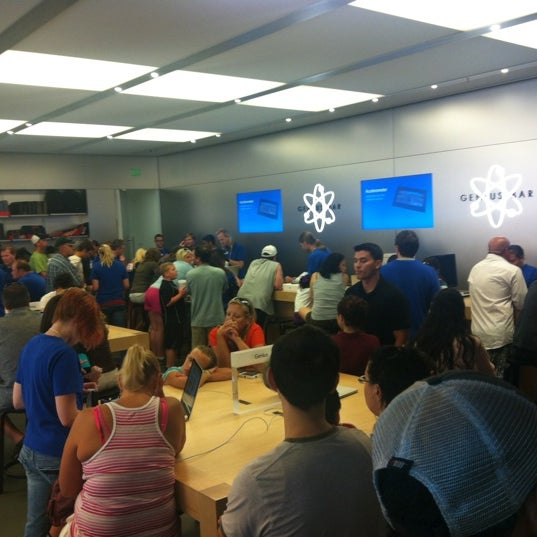 Photo taken at Apple University Park Village by Samuel C. on 8/18/2012