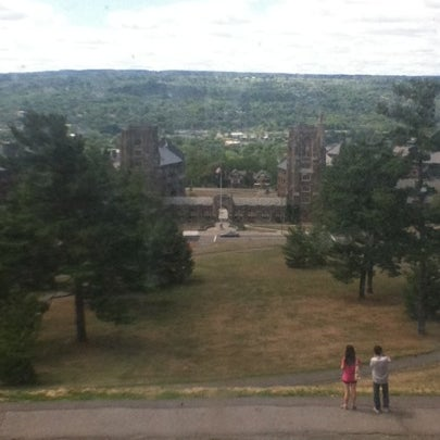 Photo taken at Uris Library by Michael D. on 8/6/2012