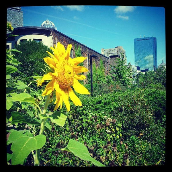 Photo taken at SW Corridor Park - Back Bay by Cason M. on 9/3/2012