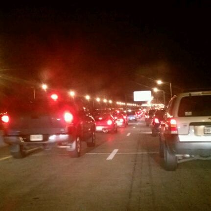 Photo taken at HRBT by Adam K. on 4/4/2012