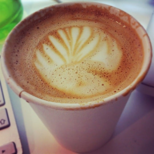Photo taken at Flat White by Ross D. on 4/19/2012