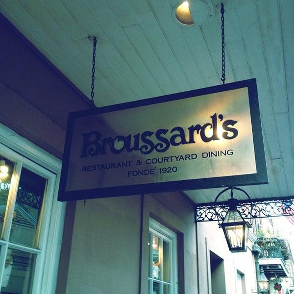Photo taken at Broussard's Restaurant & Courtyard by David F. on 3/16/2012