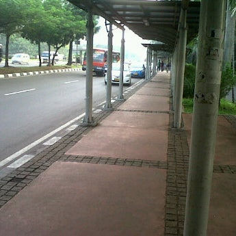 Photo taken at Halte Bus Dukuh Atas by okkylh n. on 4/19/2012