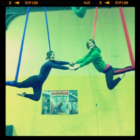 Photo taken at Creation Climbing Centre by 🎶 Loretta G. on 3/20/2012