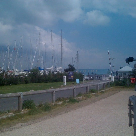 Photo taken at Hamble Point Marina by Barry d. on 5/29/2012